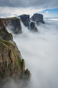 Low Lying Cloud Against The Drakensberg Amphitheatre