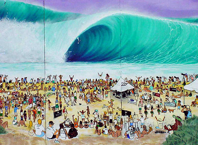 DrewToonz surf mural  2002 (found it on the internet, so the quality is very low)   Andrew Miller, artist
