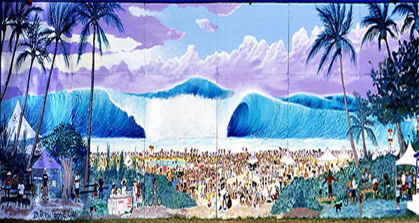 DrewToonz surf mural  Unknown Date (found it on the internet, so the quality is very low) Andrew Miller, artist