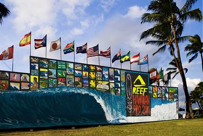 Triple Crown of SurfingReef Hawaiian Pro 2008Ali'i Beachpark, Hale'iwaNorth Shore of Hawaii, November, 2008Art by DrewToonz Andrew Miller, artist