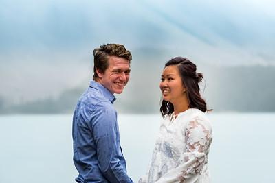 Engagement Photos - Moraine Lake