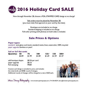 holiday card sale 2016