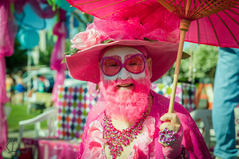 Pretty in Pink! #HighDragQueen at Phoenix Gay Pride Parade