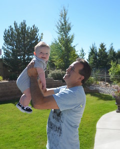 poppy and logan outside