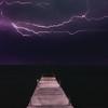 Violet Lightning over the Lake
