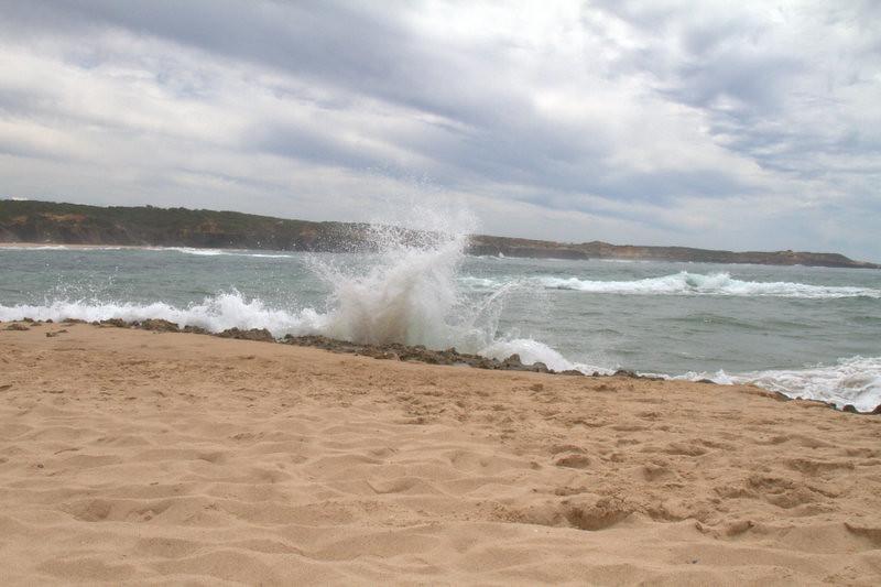 Waves breaking on the beach, Vila Nova de Milfontes