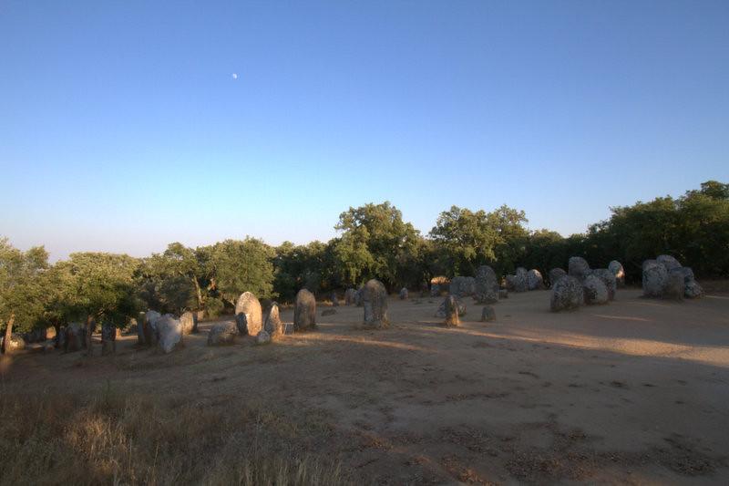 Almendres Cromlech, Megalithic site, Almendres (Evora), Portugal