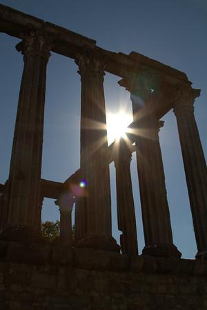 Roman Temple to Diana, Evora, Portugal