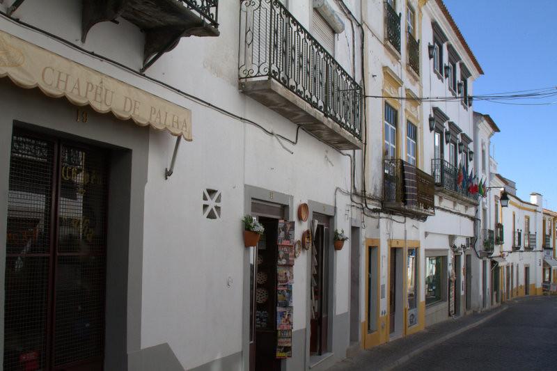 Evora streetfront, Portugal