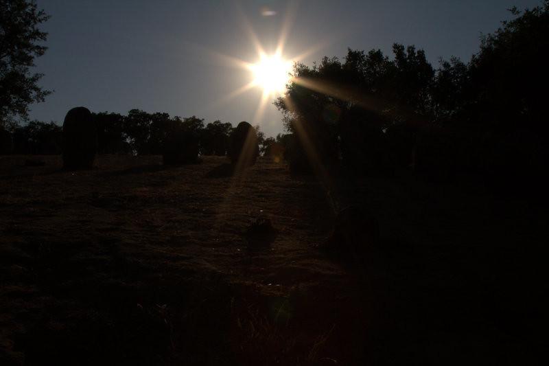 Almendres Chromlech, Megalithic site, Almendres (Evora), Portugal