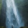 Woman Resting By Waterfall for IGTV