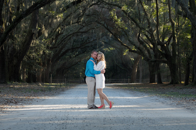 Couple at Wormsloe State Park
