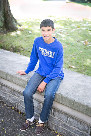 The Guadara family photo session at Memorial Hall in Lexington, KY.