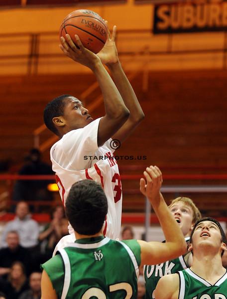 12/1/08<br /> Hinsdale Central HS<br /> <br /> York vs Hinsdale Central boys varsity basketball<br /> <br /> Scott Hardesty/www.starphotos.us