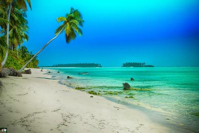Leaning to the wonderland - Thinna Kara & Parali Islands backdrop, Andaman