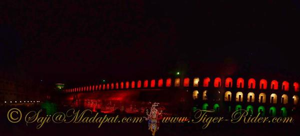 Kala Pani (Cellular Jail) wing at night - Port Blair, Andaman