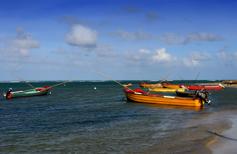 Fishing boats in Falmouth, Jamaica