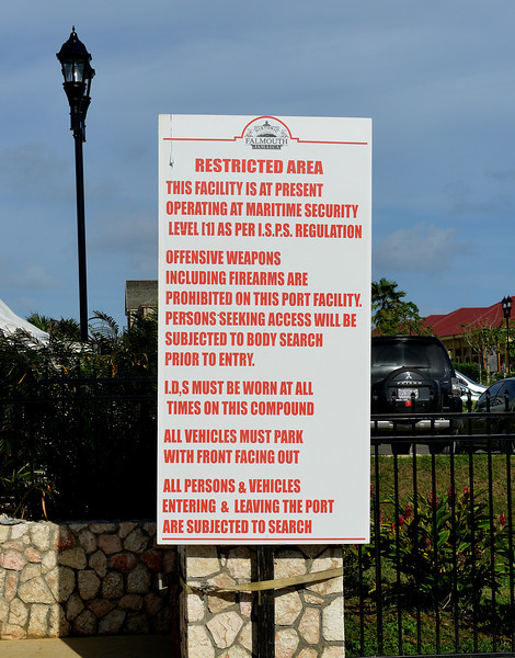 Warning sign, Falmouth, Jamaica