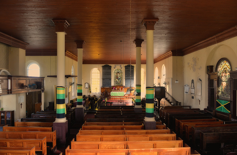 St. Peter's Anglican Church, Falmouth, Jamaica, by Ted Lee Eubanks.