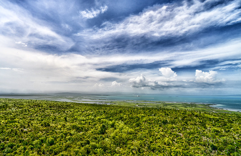Portland Bight Protected Area as seen from Portland Ridge, Jamaica.