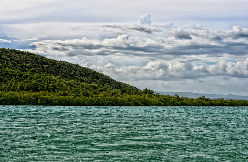 Great Goat Island, Portland Bight Protected Area, Jamaica, by Ted Lee Eubanks. This island is being considered for the development of a transshipment port.