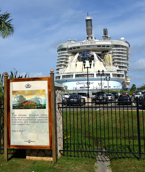 Falmouth cruise port, Falmouth, Jamaica, by Ted Lee Eubanks. The terminal is fenced off from the community, and only those will security passes can enter.