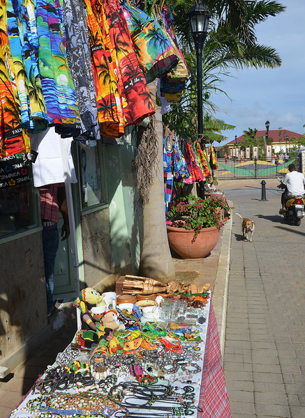 Falmouth cruise port, Falmouth, Jamaica, by Ted Lee Eubanks. This market is immediately outside of the port, with vendors selling t-shirts and cheap jewelry.