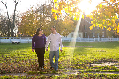 Jen & Matt's engagement session at Shaker Village in Harrodsburg, KY.  © 2015 Love & Lenses Photography  www.loveandlenses.photography