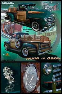 Johnny Angel's 50 Chevy Woodie Pickup
