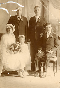 Judy Moore 1918 Wedding