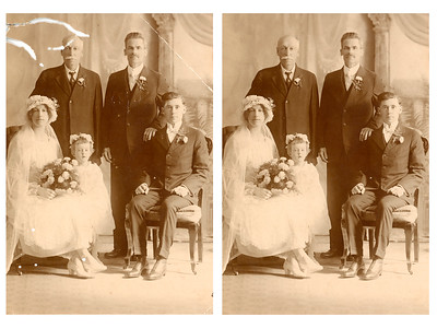 1918 Wedding Before and After