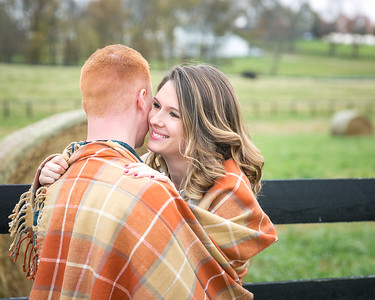 Julie & Carter's engagement session at Evan's Orchard 10.30.15.   © 2015 Love & Lenses Photography/ Becky Flanery   www.loveandlenses.photography