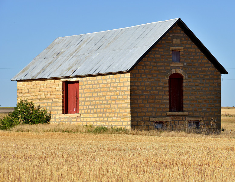 Limestone Barn near Wilson, Kansas