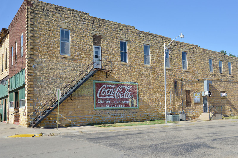 Limestone Building in Wilson Kansas