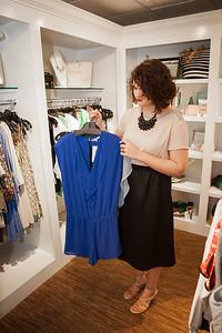 Keyana's styling session with fashion stylist Lauren Allen at Bluetique 3.13.15.