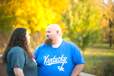 Kristen & Dennis' engagement session at the Arboretum in Lexington, KY 10.21.15.   © 2015 Love & Lenses Photography/ Becky Flanery   www.loveandlenses.photography