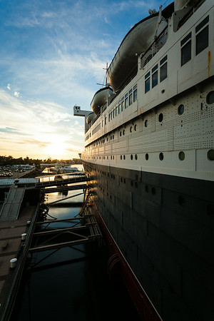 Dusk on the Queen Mary