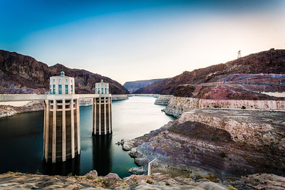 Dawn at Hoover Dam