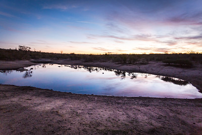Sunset at a waterhole