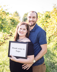 Laura & Josh's 4th Anniversary photo session at Wildside Winery.
