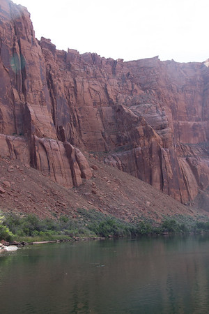 2015-05-29-74 Before - River Raft Trip to Horseshoe Bend. Looking up to the cliffs where the most famous photos are taken.