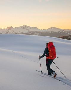 Ski Touring in Garibaldi Provincial Park, British Columbia, Canada.