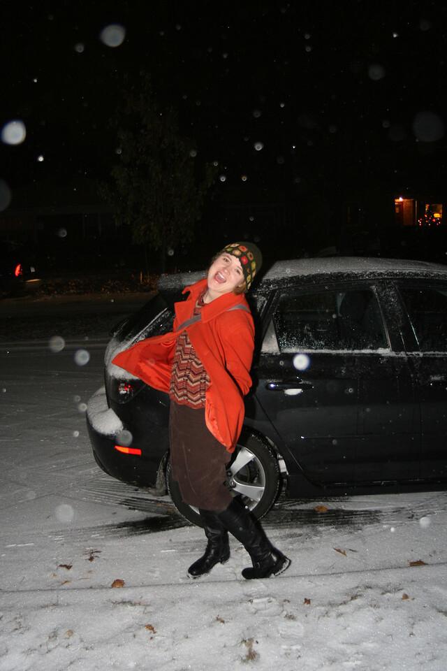Sarah enjoying the snow!