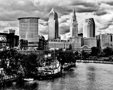 Columbus Lift Bridge Skyline 1