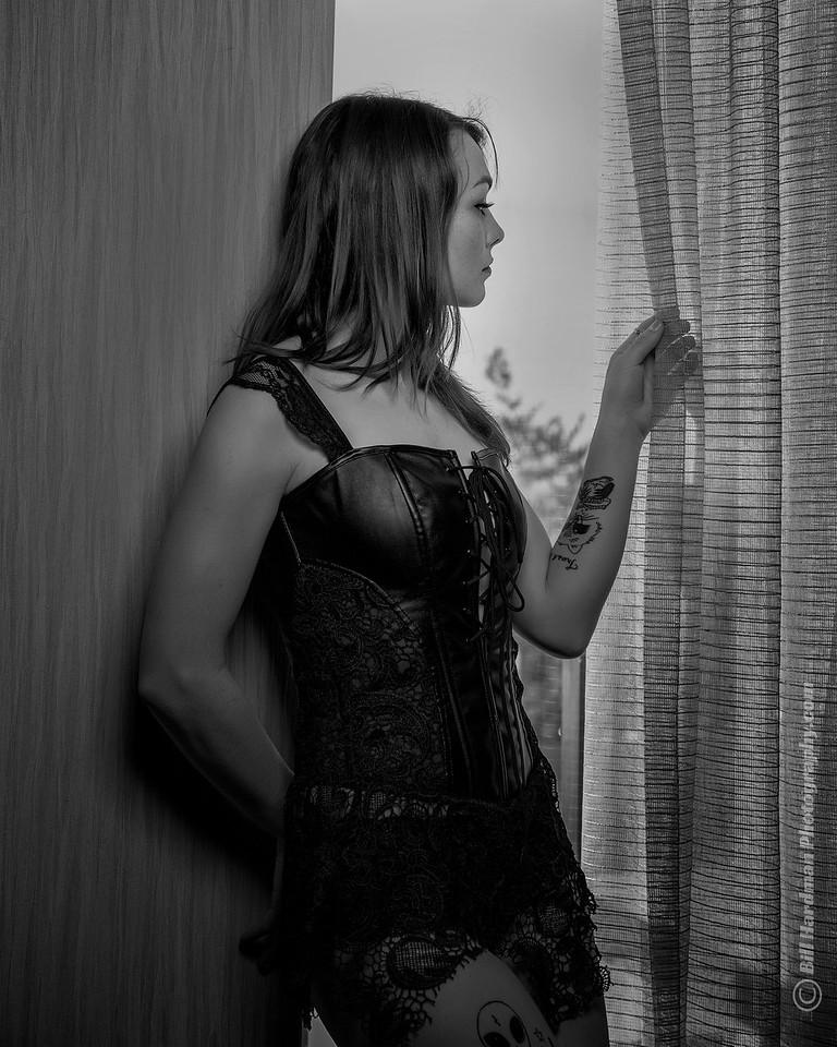 Kimberly - waiting by window