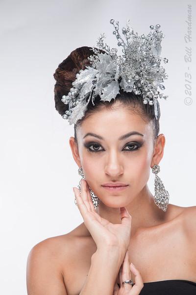 Model, MUA & Hair: Priscilla Chavez<br /> Designer: Fernanda Gratton<br /> Flowers: Veranda Flowers, Gifts, and Events and El Paso Floral<br /> Photographer: Bill Hardman