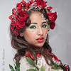 Model: Xenia Lozano<br /> Designer, MUA, & Hair: Sandra Luz Martinez<br /> Flowers: Veranda Flowers, Gifts, and Events and El Paso Floral<br /> Photographer: Bill Hardman