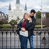 """Morgan & Alex's styled engagement session at Jackson Square, New Orleans, LA 3.5.15. © 2015 Becky Flanery/ Love & Lenses Photography  <a href=""""http://www.loveandlenses.photography"""">http://www.loveandlenses.photography</a> Makeup Artist: Artistry by Camille"""