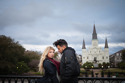 Morgan & Alex's styled engagement session at Jackson Square, New Orleans, LA 3.5.15. © 2015 Becky Flanery/ Love & Lenses Photography www.loveandlenses.photography Makeup Artist: Artistry by Camille