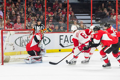 NHL 2016: Red Wings vs Senators February 20